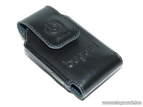 Bugatti Comfort Apple iPhone 4/4S, marhabőr mobiltelefon tok, fedéllel, fekete (007513) - megszűnt termék: 2016. április