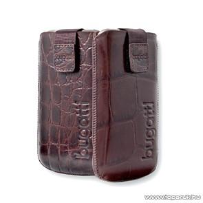 Bugatti Croco álló mobiltelefon tok, 6,3cm x 11,3cm (006726)