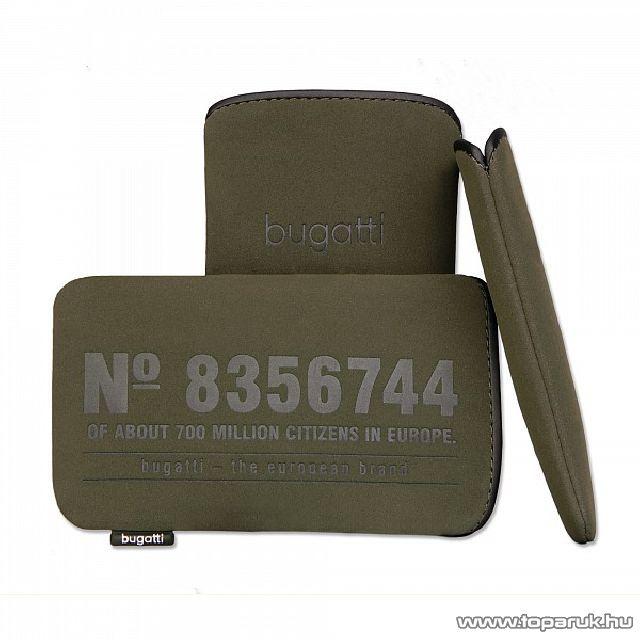 Bugatti Neopren olive M álló mobiltelefon tok, 122 x 75mm (07707)