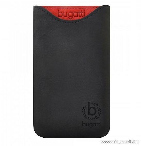Bugatti Skinny M álló valódi bőr mobiltelefon tok, 72 mm x 123 mm (07949)