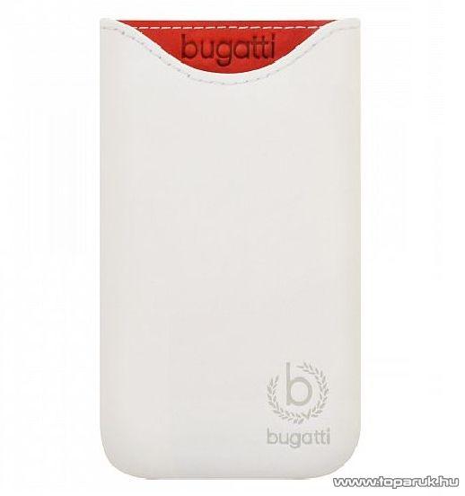 Bugatti Skinny SL álló valódi bőr mobiltelefon tok, 77 mm x 133 mm (07951) - megszűnt termék: 2015. július