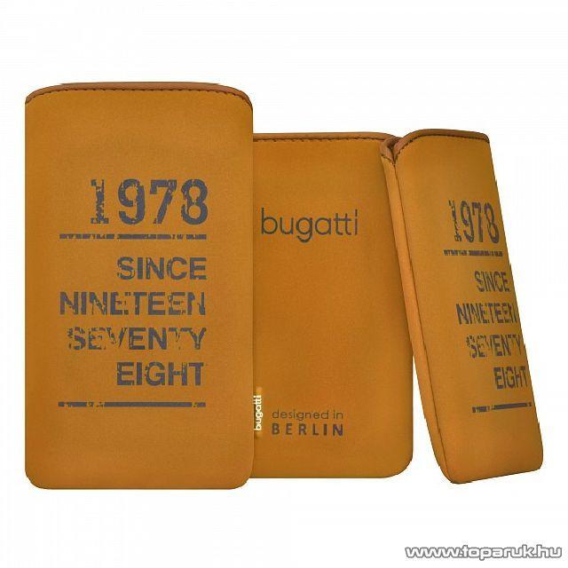 Bugatti SlimCase oak M tölgy színű álló mobiltelefon tok, 122x75mm (07868)