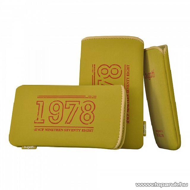 Bugatti SlimCase khaki M álló mobiltelefon tok, 122x75mm (07870)
