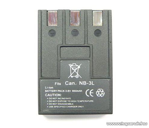 ConCorde for Canon NB3L akkumulátor - megszűnt termék: 2015. május