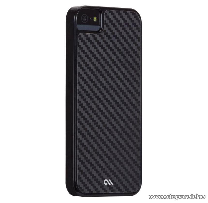 Case-Mate Barely There Carbon iPhone SE / 5 / 5s okostelefon tok / hátlap, karbon mintával, fekete