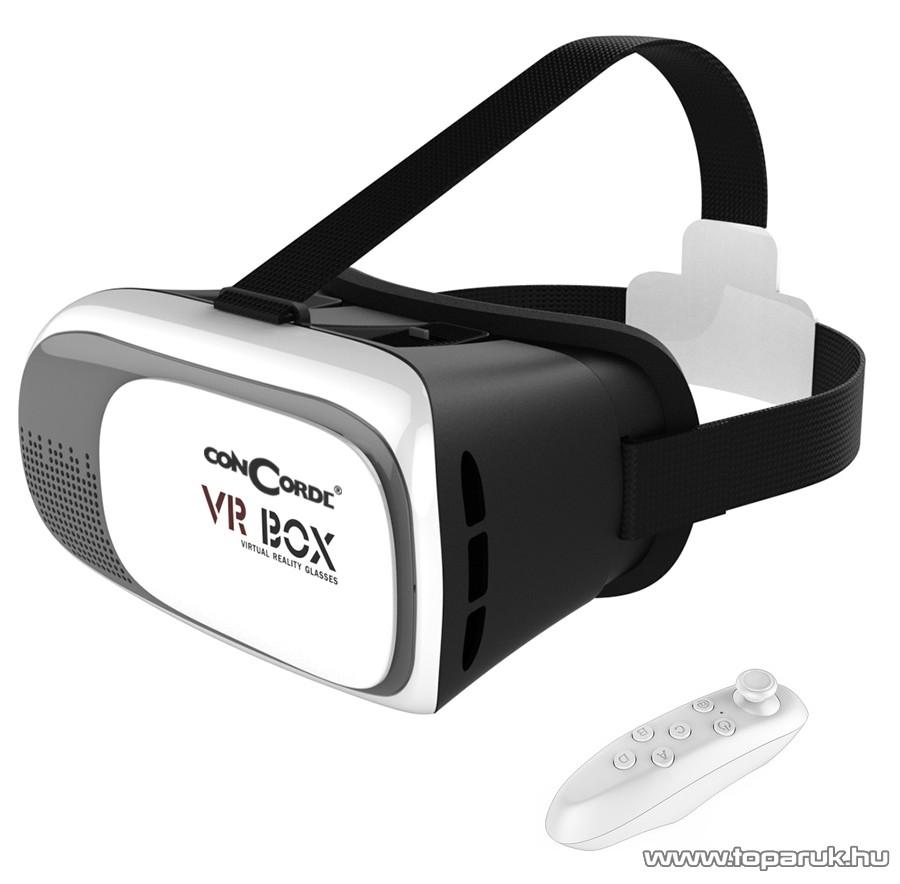 ConCorde VR BOX V 2.0 virtuális valóság szemüveg okostelefonokhoz, bluetooth kontrollerrel