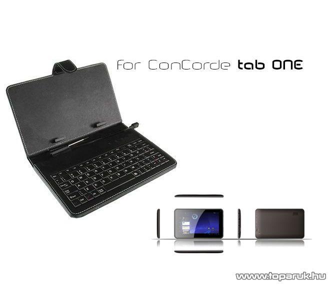 """ConCorde Tab billentyűzetes tok, 7""""-os, micro USB csatlakozó kábellel"""