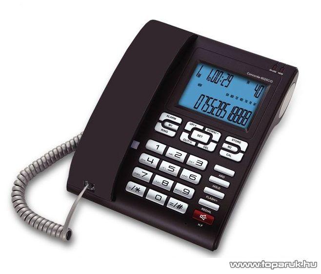ConCorde 6025CID vezetékes CID telefon Baby Call funkcióval, padlizsán