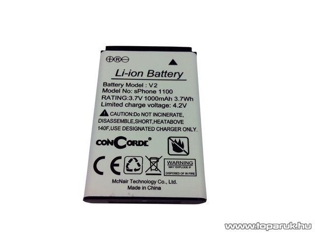 ConCorde sPhone 1100 Mobiltelefon akkumulátor - készlethiány