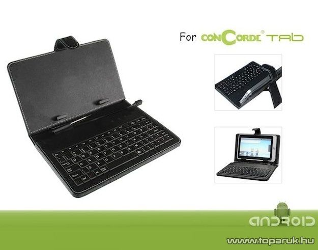 ConCorde Tab billentyűzetes tok, 7 coll ConCorde Tab 7.1 és a tab 7020 készülékekhez