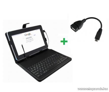 """ConCorde Tab billentyűzetes tok 9.7""""-os tabletekhez + Micro USB OTG kábel"""