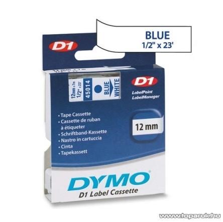 DYMO D1 kazetta, 12mmx7m, kék/fehér - megszűnt termék: 2016. július