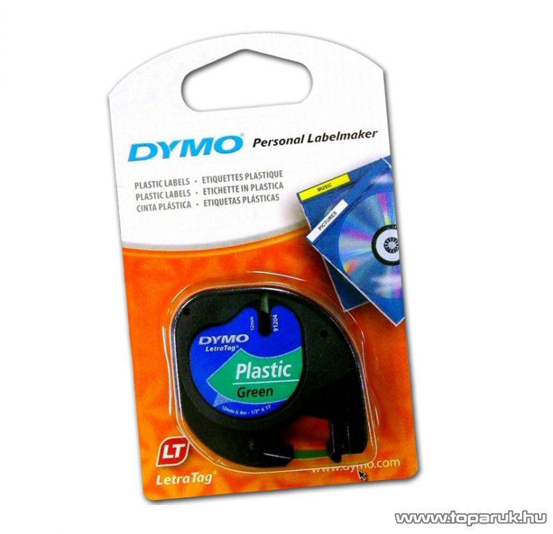 DYMO LETRATAG kazetta műanyag, 12mm x 4m, zöld - megszűnt termék: 2016. július
