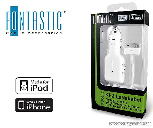 Fontastic iPhone BS-110 autóstöltő 12/24V, szivargyújtó csatlakozó