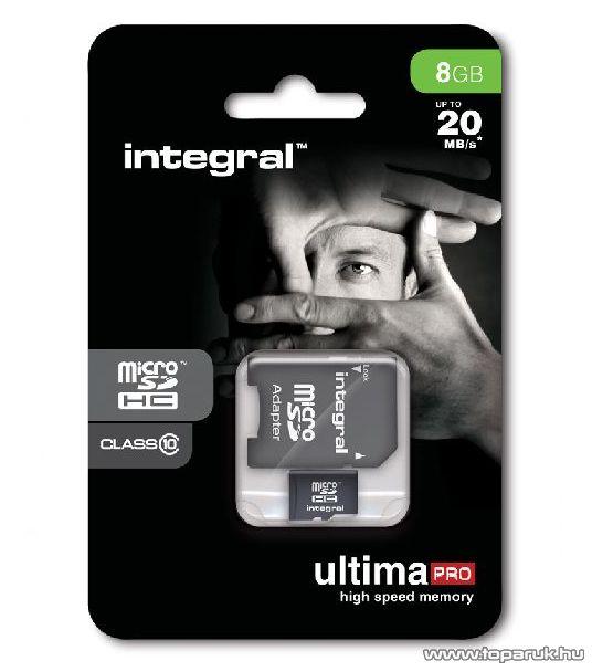 Integral Ultima Pro Micro SDHC memóriakártya, 8GB