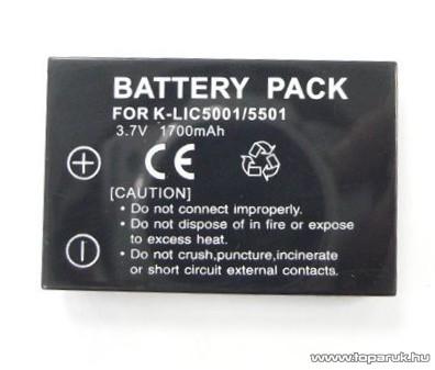 ConCorde for Kodak KLIC-5001 akkumulátor - készlethiány
