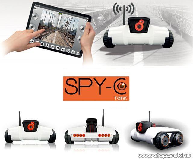 LOGICOM SPY-C Apple vagy Android alkalmazásokkal vezérelhető vezeték nélküli tank modell videó kamerával