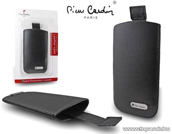 Pierre Cardin H10-12 Slim black univerzális álló mobiltelefon bőrtok, fekete