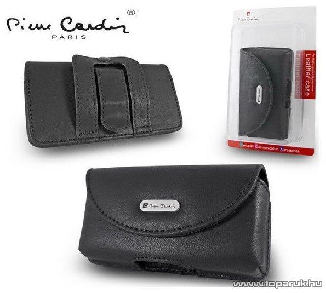 Pierre Cardin Classic TS01 univerzális fekvő mobiltelefon bőrtok, fekete