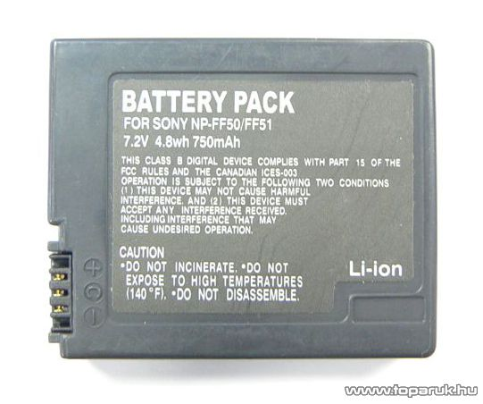 ConCorde for Sony NP-FF50 akkumulátor