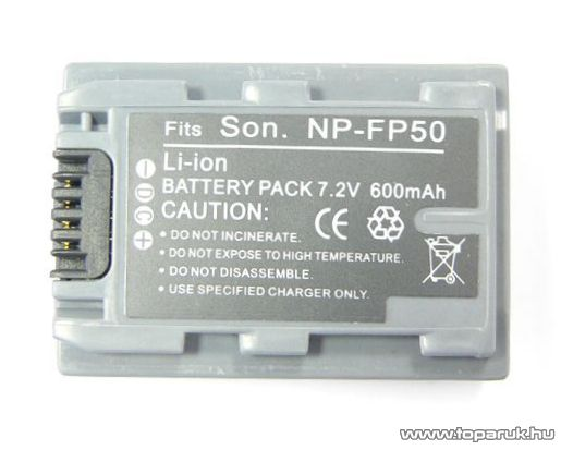 ConCorde for Sony NP-FP50 akkumulátor - megszűnt termék: 2016. június