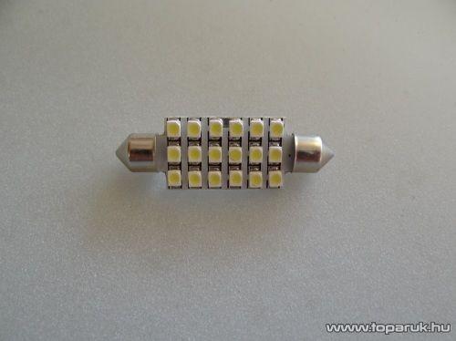 18 SMD LED 180 fok látószög CAN-BUS beltér, vagy rendszámtábla megvilágító led (LD31-C5W)