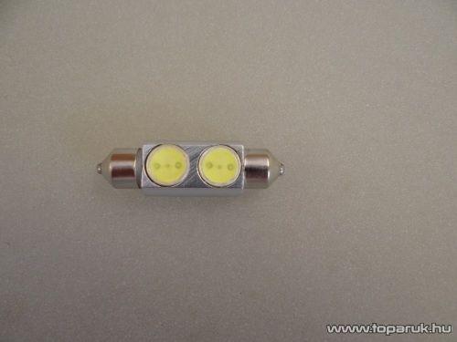 2 Luxeon HighPower LED-es, beltér megvilágító fémhűtéses led, 12V, 8 W, jégfehér (LD20-C5W)