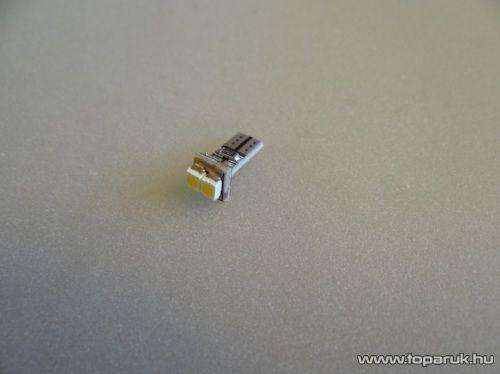 2 SMD HighPower nagy fényű mini műszerfal világító LED, T5 foglalatba, 12V (LD07-ML) - készlethiány