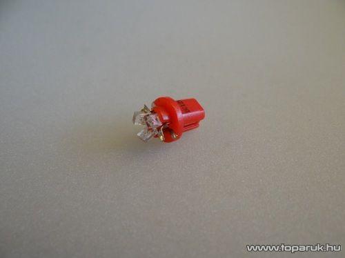 3 LED-es műszerfal világító led, nagyfényű, B8.5D műszerfal foglalatba, 12V (LD06-ML) - készlethiány