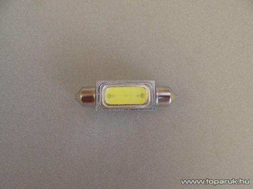 3 chip-es 1 Festoon LED beltér, vagy rendszámtábla megvilágításához, 120 fokos látószög, 12 V, jégfehér (LD35-C5W)