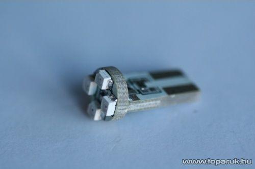 4 SMD HighPower nagy fényű mini műszerfal világító LED, T10 foglalatba, 12V (LD19-ML)