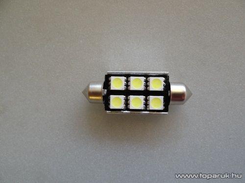 6 HighPower LED 180 fok látószög CAN-BUS beltér, vagy rendszámtábla megvilágító led (LD-32C5W)