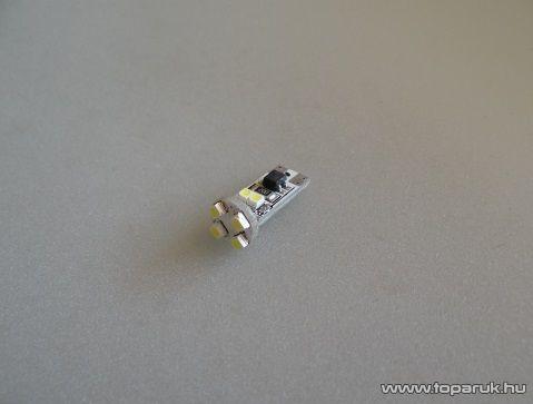 8 LED-es Can Bus Led, IC stabilizált W5W foglalat, T10 (LD-009/1) - készlethiány