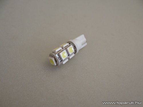 9 HighPower LED, 360 fok látószögű beltéri, vagy rendszámtábla megvilágító led, extra nagy fényerő (LD3-W5W)