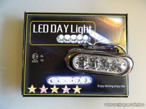 DPL Nappali pozíciófény, 5 db hagyományos LED, 1 pár (DRL013)