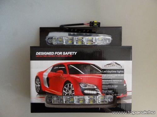 DRL íves nappali menetfény, 5 db 1W-os HighPower LED (DRL016)