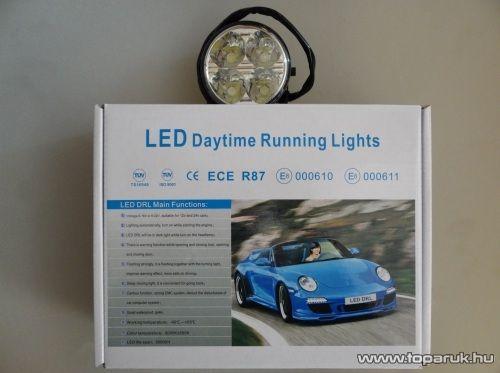DRL Nappali menetfény, 4 db Philips típusú 1W-os HighPower LED (DRL001)