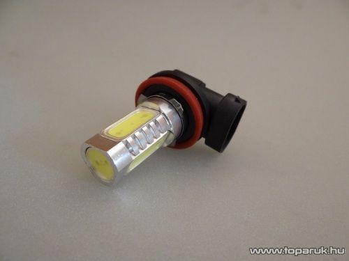 H11-es izzó foglalat helyére való, 4 db 3 Chip-es LED, 360 fokban világító, jégfehér (LD05-HF) - készlethiány