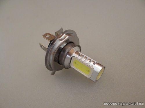 H4-es izzó foglalat helyére való, 4 db 3 Chip-es LED, 360 fokban világító, jégfehér (LD02-HF) - készlethiány