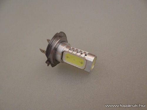 H7-es izzó foglalat helyére való, 4 db 3 Chip-es LED, 360 fokban világító, jégfehér (LD01-HF)