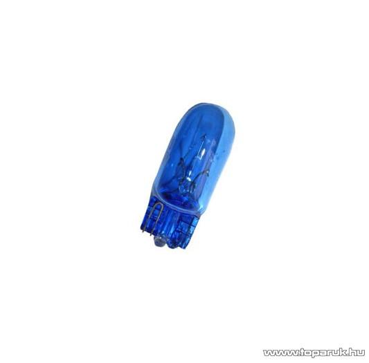 Xenon töltésű helyzetjelző izzó, izzószálas, anyagában színezett, W5W T10 foglalat, 12V, 5W, fehér (XT3-W5W)