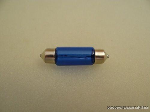 Xenon töltésű izzó, izzószálas, anyagában színezett, C5W Szofita, 12V, 5W, fehér (XT2-C5W)