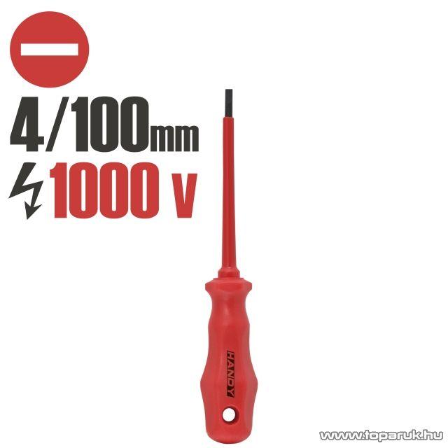 Handy Csavarhúzó, 1000V-ig szigetelt, 100 mm, -4 mm (10590)