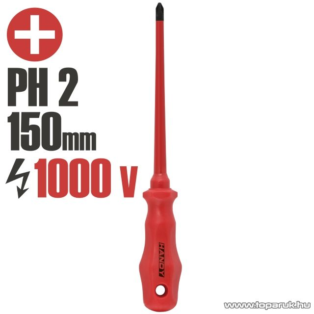 Handy Csavarhúzó, 1000V-ig szigetelt, 150 mm, PH 2 (10594)