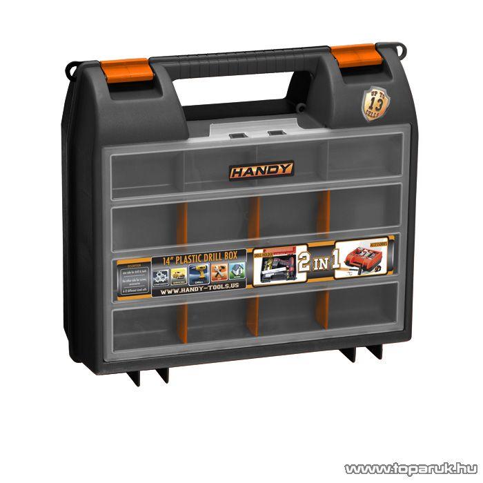 Handy 2 az 1-ben műanyag fúró + alkatrész tároló táska, 360 x 323 x 145 mm (10958X)