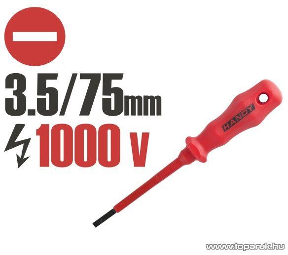 Handy Csavarhúzó, 1000V-ig szigetelt, 145 mm, 3.5 mm (10596) - megszűnt termék: 2015. július