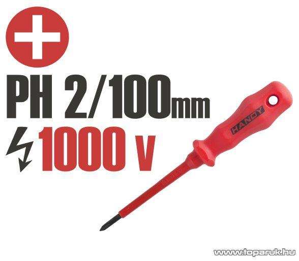 Handy Csavarhúzó, 1000V-ig szigetelt, 145 mm, PH 2 (10598) - megszűnt termék: 2016. május