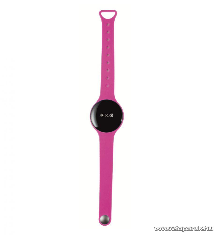 HOME FW 360/PI Aktivitás figyelő fitnessóra, 8 in 1 multifunkciós karóra, pink (rózsaszín)