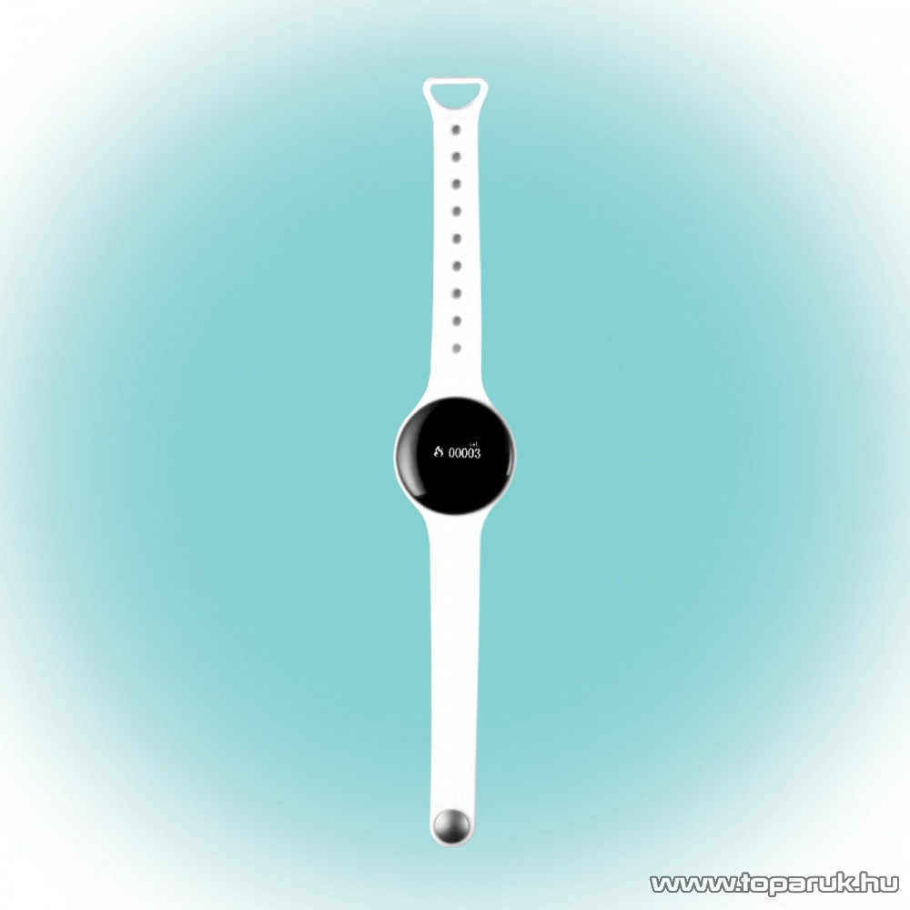 HOME FW 360/WH Aktivitás figyelő fitnessóra, 8 in 1 multifunkciós karóra, fehér