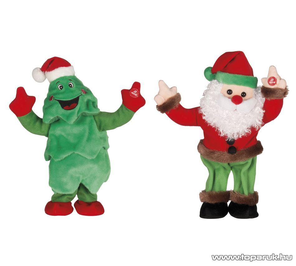 ARTI CASA EDC 9234/FM Karácsonyi éneklő, táncoló fenyőfa és Mikulás figurák, 2 db / csomag